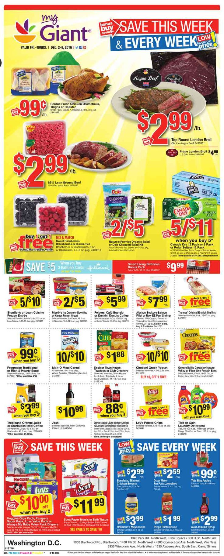 Giant Food Weekly Ad December 2 - 8, 2016 - http://www.olcatalog.com/grocery/giant-food-weekly-ad.html