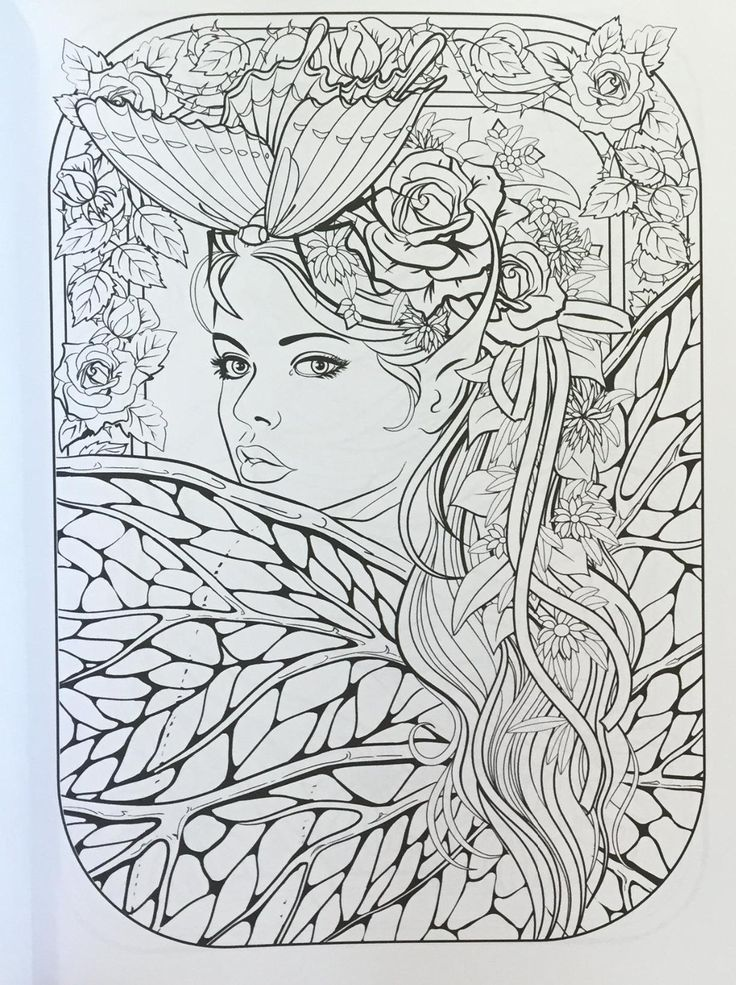 182 best Fairies/Angels coloring pages images on Pinterest