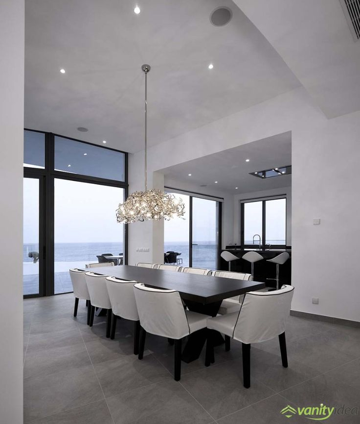 outrageous chandelier above the table.