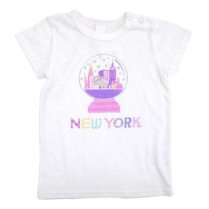 NYC Snow globe Tee - Off White