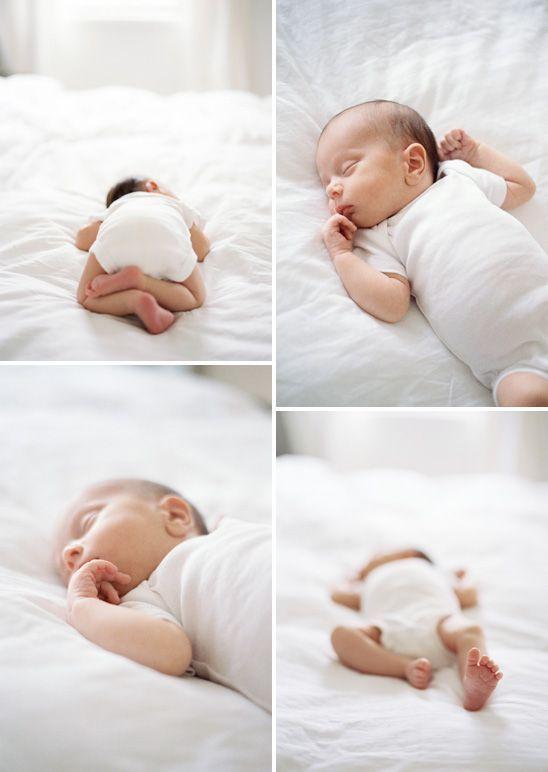 Dies ist die Art von Neugeborenenfotografie, die ich liebe. Einfach. Natürlich. Keine ausgeflippten Posen