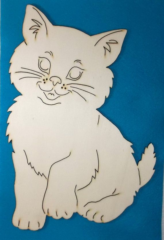 1 Cat wood 19 x 28 cm 10-0016D by SowaKreativ on Etsy
