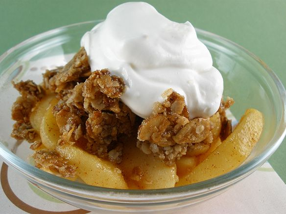 Stovetop Apple Crisp. This was so good, I made it just as the recipe stated. Next time I'm going to try and lighten it up.