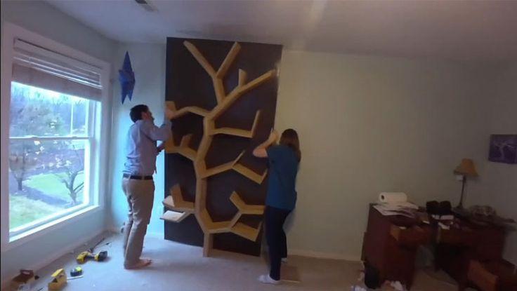 Ağaç Görünümlü Kitap Rafları
