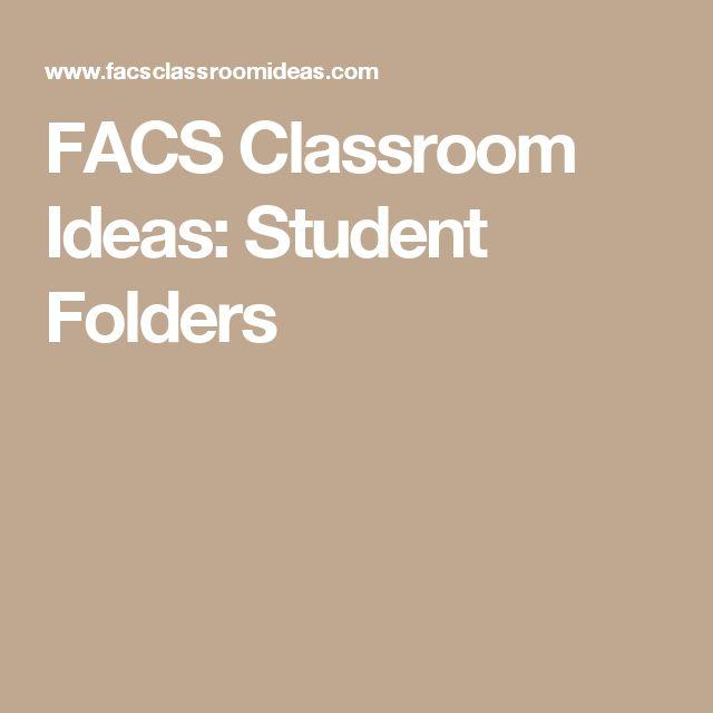 FACS Classroom Ideas: Student Folders