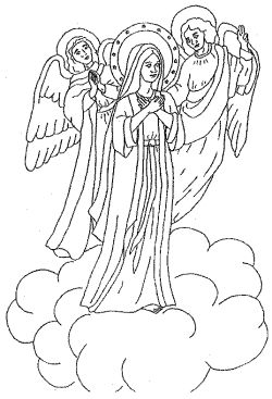 glorious mystery coloring pages - photo#13