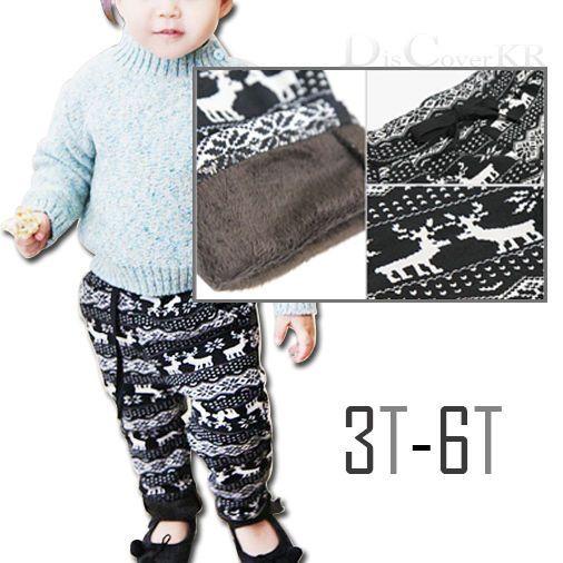 Kids Winter Warm Pants Thick Pants Leggings Clothes 3-6T #DCKR #Leggings