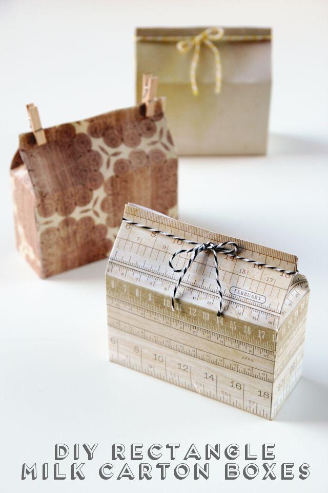 Diy Rectangle Milk Carton Boxes. | Gathering Beauty