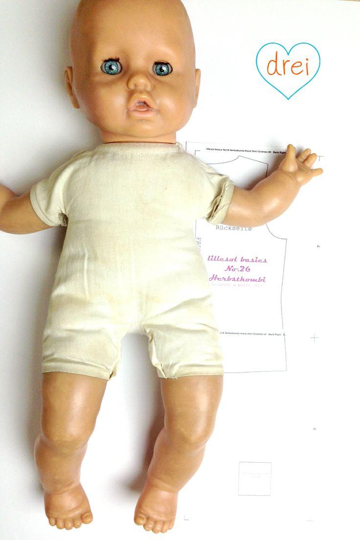 Puppenkleidung selber Nähen Anleitung und Schnittmuster für ein Halstuch