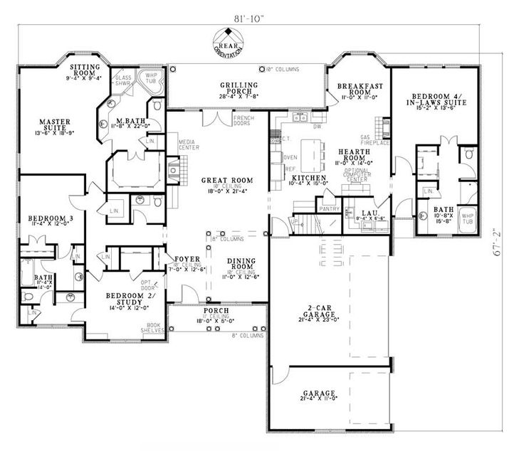 house plans with inlaw suite house plan 110 00730 european plan 2 952 square feet 4 bedrooms 3 5 bathrooms house plans 7114