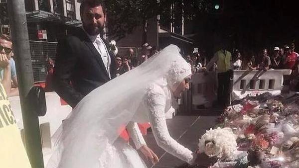Australia aplaude a una novia musulmana que dejó su ramo en el memorial de las víctimas del secuestro islamista - Yahoo Noticias España