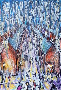"""LONG ROW"" The Night The Angels Came Down.5 Northern Art, Tim Burton."