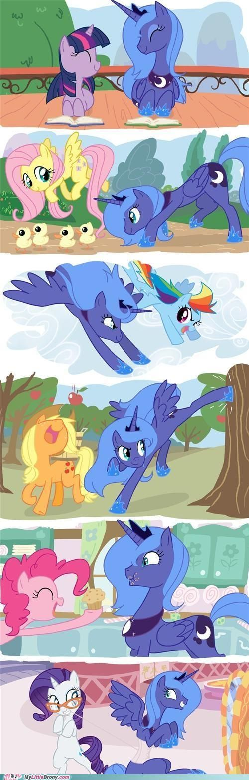 Luna and the 6. WHY DOES SHE HAVE TO GO NIGHTMARE MOON AGAIN IN SEASON 4?!?!