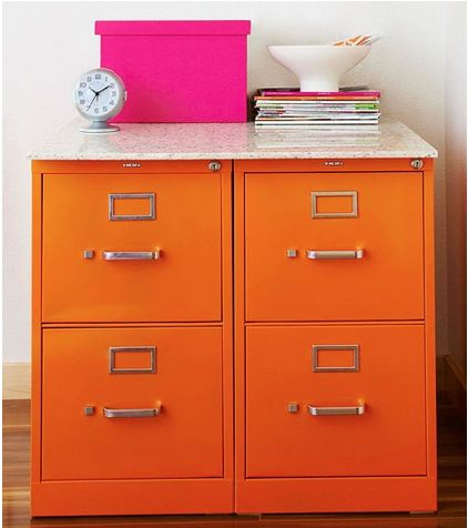 Organized Space :: Revamped Filing Cabinets for School Papers