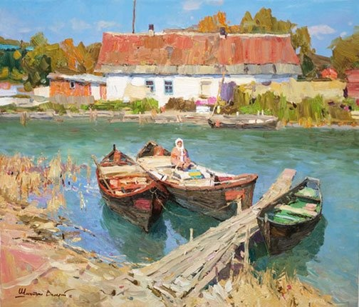 """Valeriy Shmatko Summer day Oil on canvas 28"""" x 24"""" (71 x 61 cm) $2400 For more information about this artist visit www.silvanagallery.comSee More"""