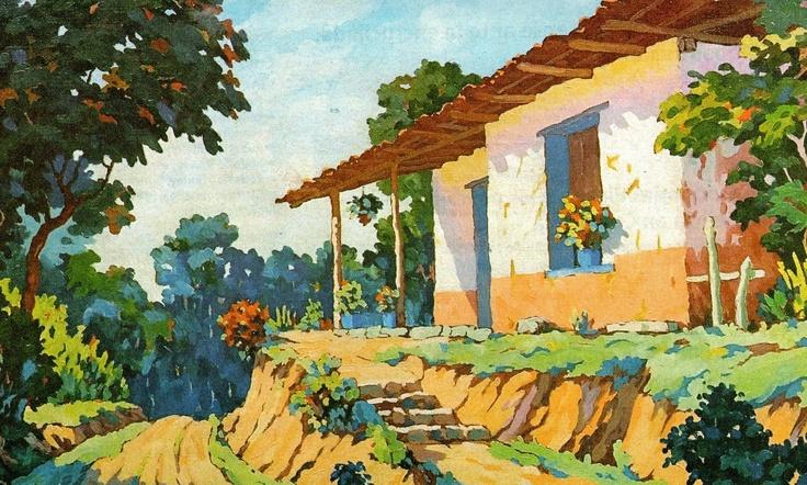 356 best pintura paisajista images on pinterest oil - Paisajes de casas de campo ...