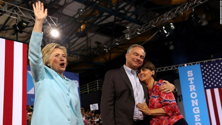 Anne Holton doesn't want Kaine's Senate seat: 'I will never let (my) husband be my boss' / Hillary Clinton (L) greets suporters as democratic vice presidential candidate U.S. Sen. Tim Kaine (D-VA) hugs his wife Anne Holton during a campaign rally at Florida International University Panther Arena on July 23, 2016 in Miami, Florida.