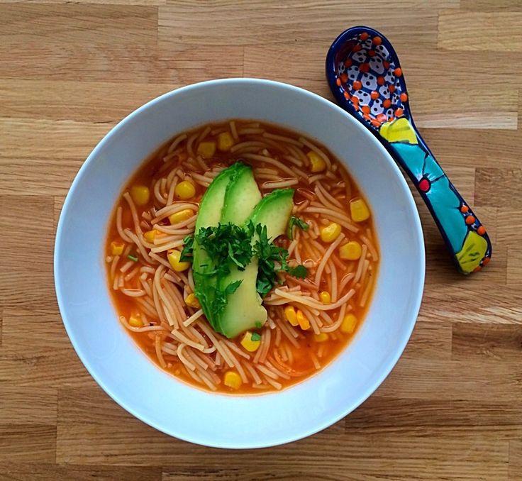 Sopa de Fideos con Maíz (Vermicelli Pasta Soup with Sweetcorn) | Mexican Food Memories