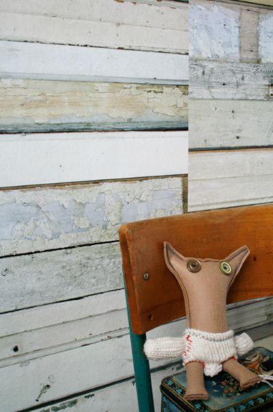 Sloophout behang wit | Studio ditte