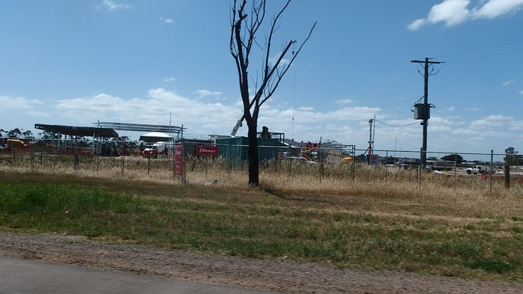 Construction site of a new petrol station on Ballarat rd. taken on 29.10.2014