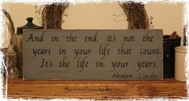 quote wooden signs Quote Life In Your Years Wood Sign Home