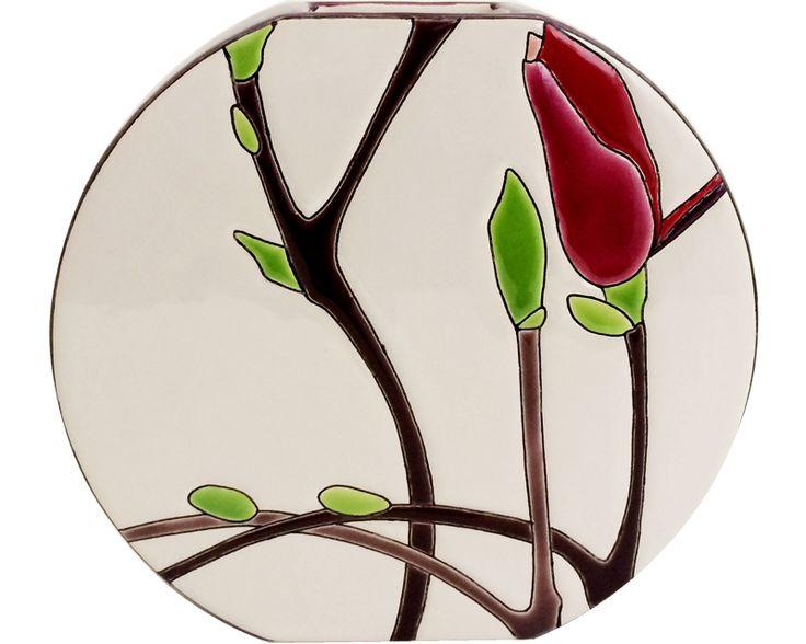 Vase Discobol P.M. (Magnolias) - Fleurs d'émaux/Magnolias - Emaux et Faïences de Longwy