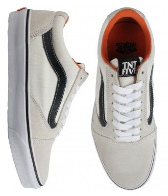 Vans TNT 5 Skate Shoes - White/Black $65.00 #vans #tnt