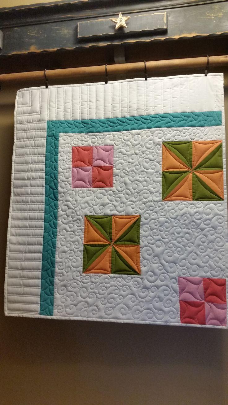Rachel, simple custom quilting