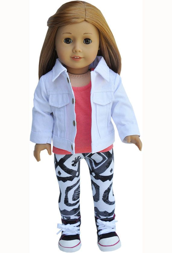 American Girl Clothes Coral and Tribal by LoriLizGirlsandDolls