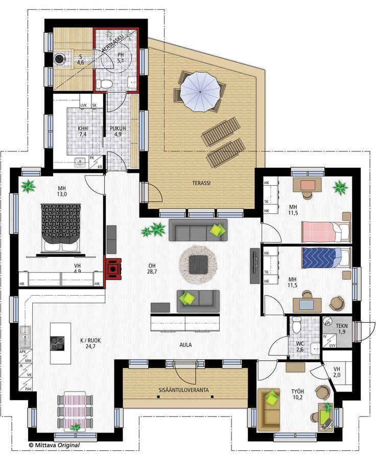 Tuomas 153 » Yksilölliset, korkealaatuiset talopaketit osaavasti, edullisesti, nopeasti ja toimitusvarmasti. Kivoja ratkaisuja, eteinen, saunaosasto.. Neliöitä kyllä ihan liikaa..