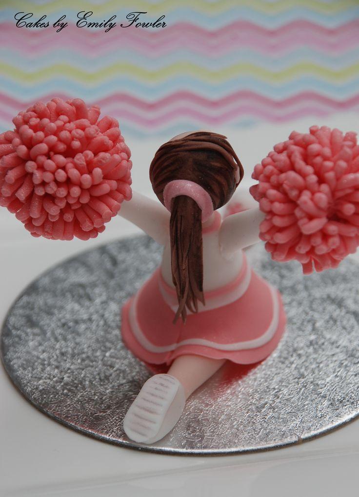 Cheerleader cake topper