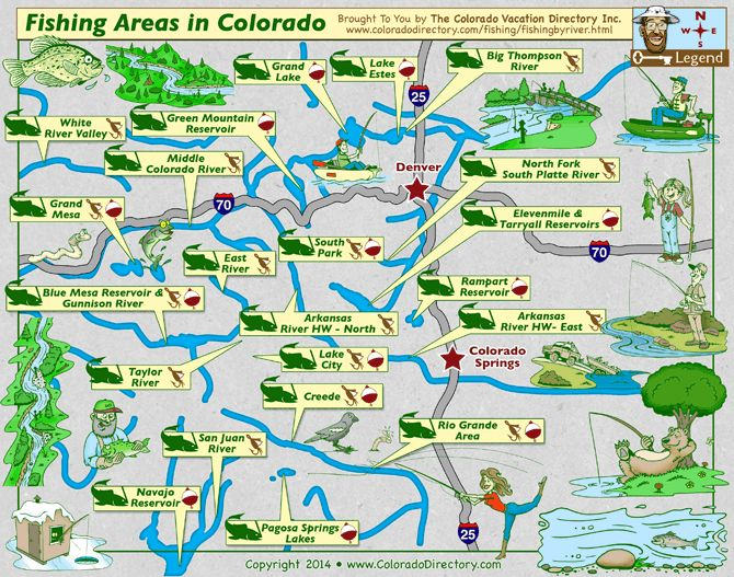 18 best images about colorado maps on pinterest colorado for Best fishing spots in colorado