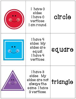 shapes activities (three-dimensional objects too)