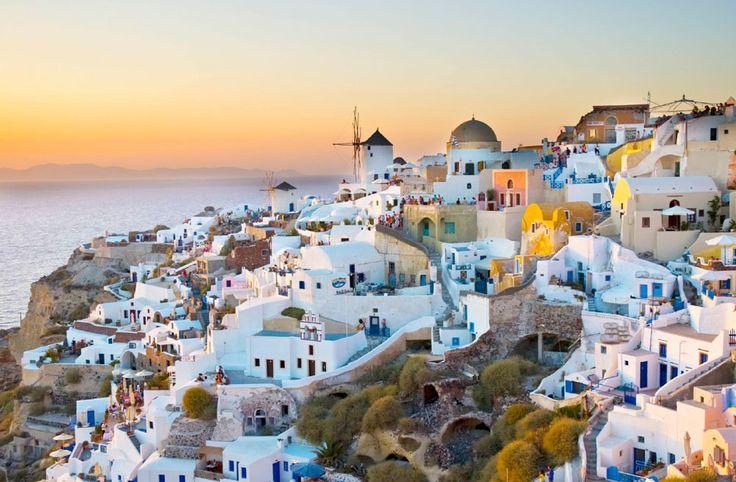 The beautiful village of Oia