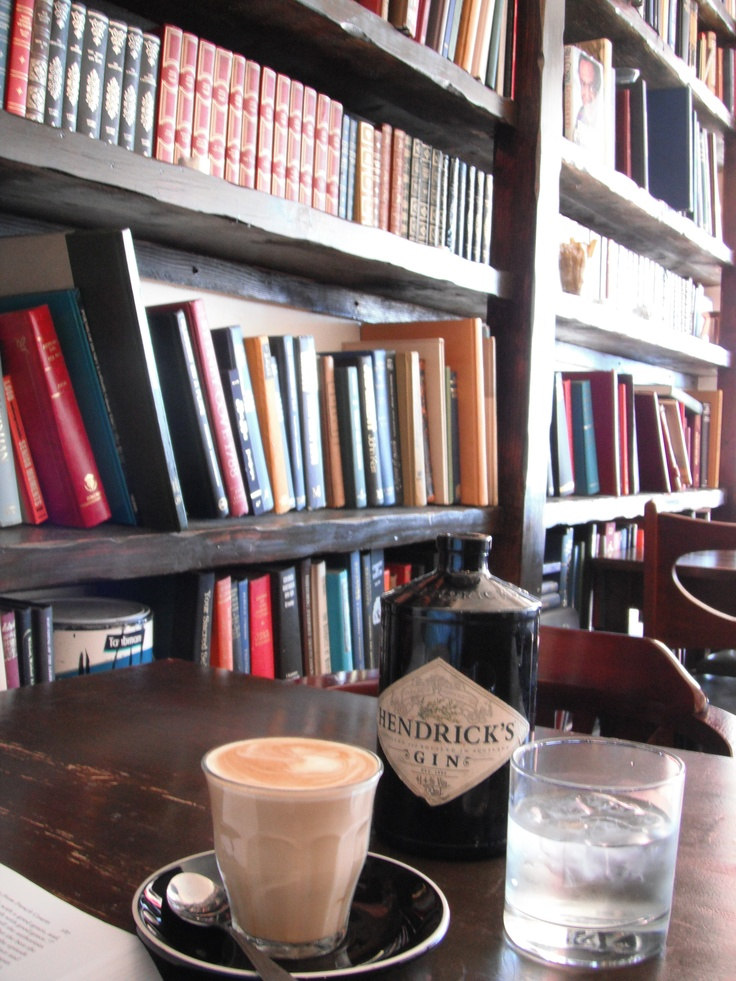 perfect latte and Hendrick's water carafe... #Hemingway's on Manly Beach, NSW