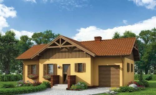 Projekt domu PT Lozanna SZKIELET DREWNIANY - DOM PT3-56 - gotowy projekt domu