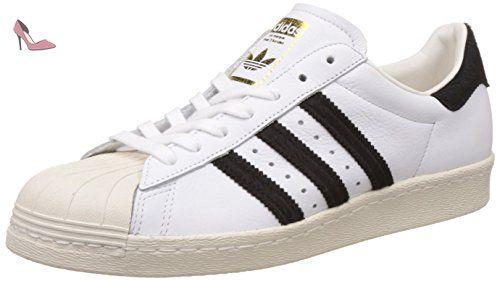 adidas Superstar 80s chaussures, blanc noir, 43 1/3 EU - Chaussures adidas (*Partner-Link)
