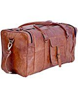 Amazon.com | ROCKCOW Vintage Look Men's Leather Weekender Duffel Bag Luggage Holdall | Travel Duffels