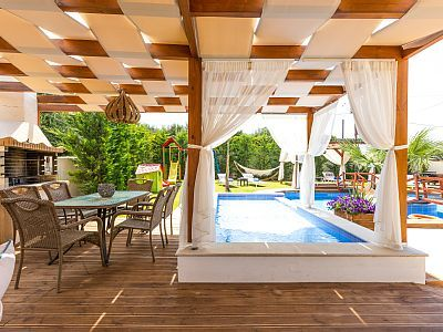 Rethymno villa rental - BBQ facilities available outdoors!