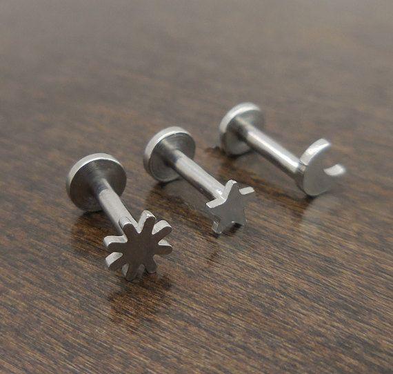 Boucle doreille argent Triple hélice avant 16G Cartilage