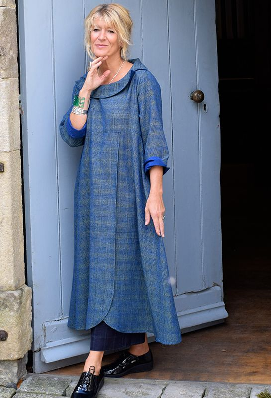 Palma Dress in silk (with subtle check) £345, other colours available.