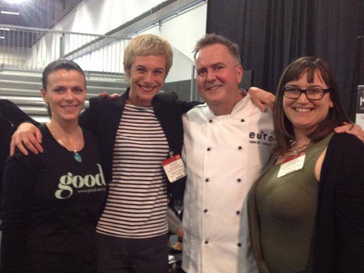 Kati enjoying the Food Show with Good magazine and restauranteur and Masterchef judge Simon Gault #evoluskincare