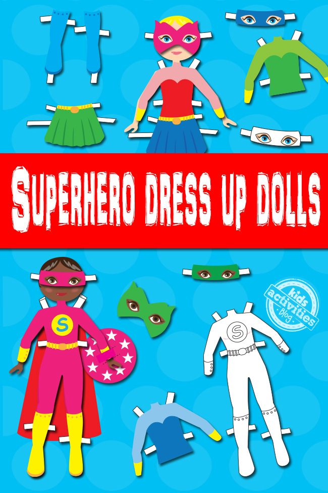 These superhero dress up dolls are lots of fun and really great for a kids imagination. Plus, they're free!