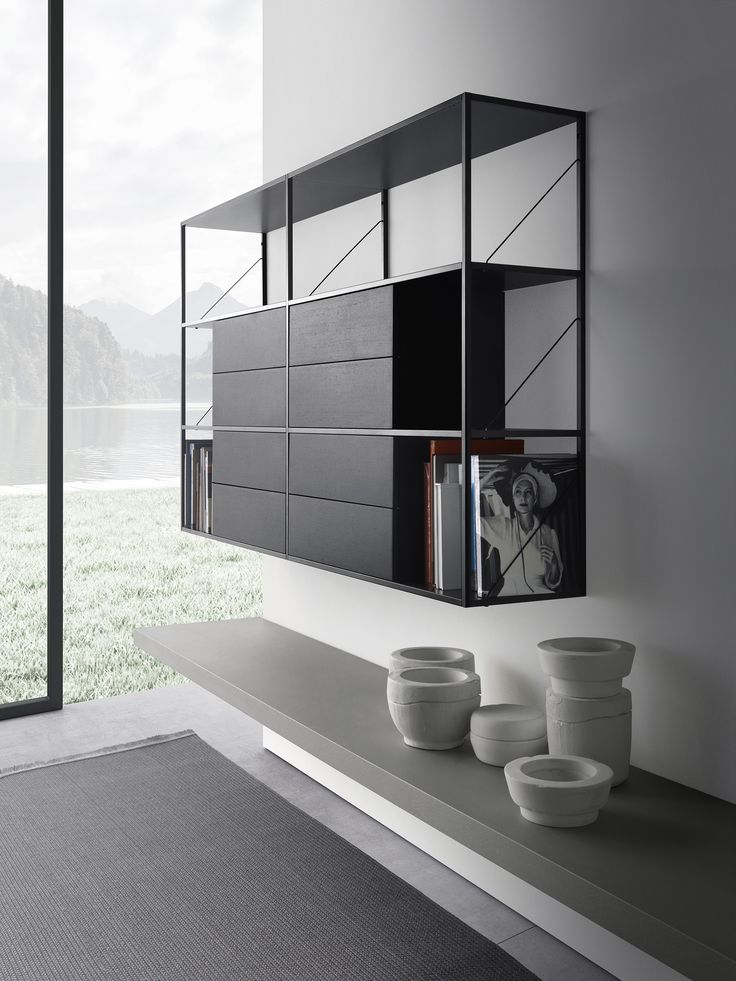 Minima 3.0 is the restyle of Minima a modern design icon by MDF Italia. The modularity of this bookcase creates unique solutions in the livingroom.