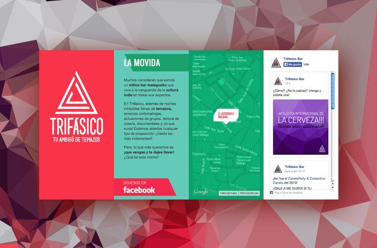 ¡¡Qué web tan estupenda tiene Trifásico Bar!! ¿Quién la habrá hecho?... jeje http://www.trifasico.es/ Diseño web