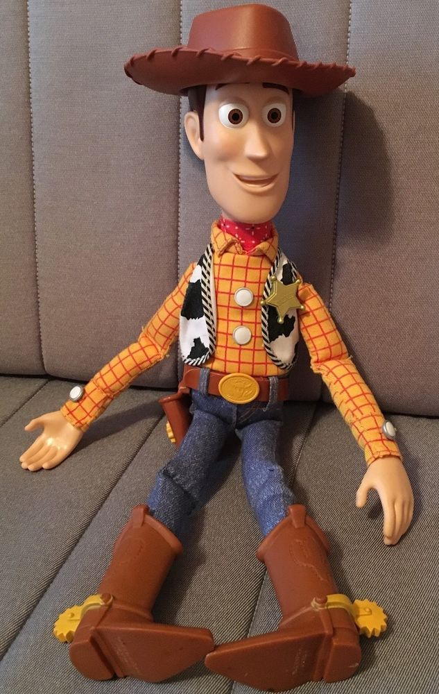 Toy Story WOODY 15'' Pull String Talking Cowboy Doll with ...