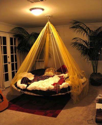 10 ideas para hacer o instalar una cama colgante en el dormitorio ...