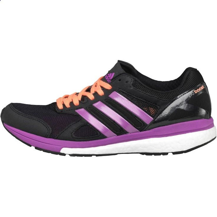adidas Womens Adizero Tempo Boost 7 Stability Running Shoes Black/Flash Pink/Flash Pink
