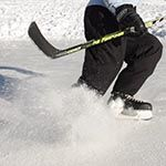 hockey stop - how to stop on ice skates