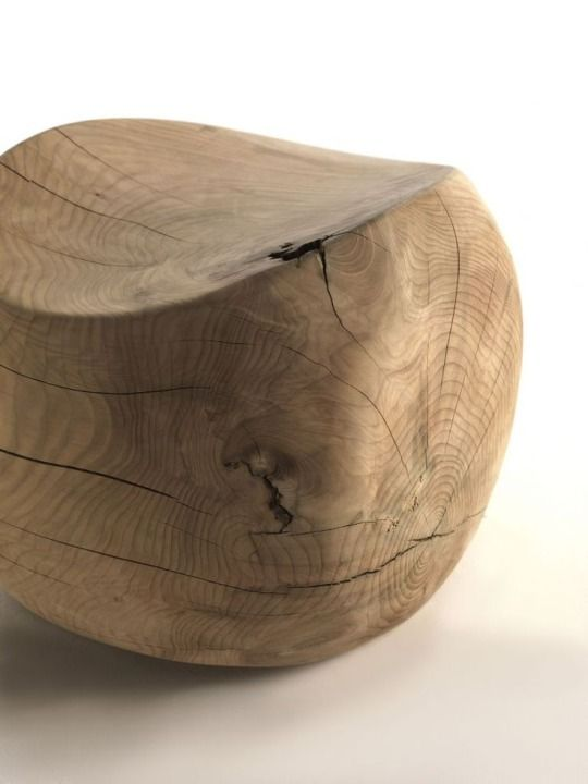 Charming Wood Block Stool By Benno Vinatzer For Riva 1920